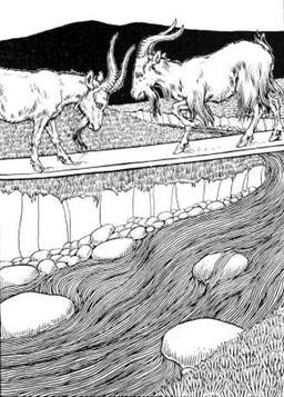 Les Deux Chèvres. Source : http://data.abuledu.org/URI/519ca91b-les-deux-chevres