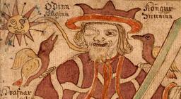 Les deux corbeaux d'Odin. Source : http://data.abuledu.org/URI/521a82ad-les-deux-corbeaux-d-odin