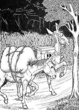 Les deux mulets. Source : http://data.abuledu.org/URI/519b7876-les-deux-mulets