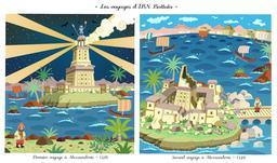 Les deux voyages d'Ibn Battuta à Alexandrie. Source : http://data.abuledu.org/URI/55a2a4d4-les-deux-voyages-d-ibn-battuta-a-alexandrie