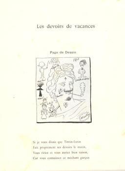 Les devoirs de vacances de Tintin-Lutin. Source : http://data.abuledu.org/URI/560c4f2a-les-devoirs-de-vacances-de-tintin-lutin