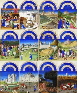Les douze mois des Très Riches Heures du Duc de Berry. Source : http://data.abuledu.org/URI/531c49d6-les-douze-mois-des-tres-riches-heures-du-duc-de-berry