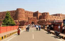 Les fortifications d'Agra en Inde. Source : http://data.abuledu.org/URI/58cec41f-les-fortifications-d-agra-en-inde