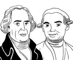 Portrait des frères Montgolfier. Source : http://data.abuledu.org/URI/53bd5d35-les-freres-montgolfier