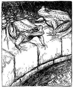 Les grenouilles et le puits. Source : http://data.abuledu.org/URI/517d670d-les-grenouilles-et-le-puits