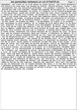 Les grenouilles réclamant un roi. Source : http://data.abuledu.org/URI/517cb747-les-grenouilles-reclamant-un-roi