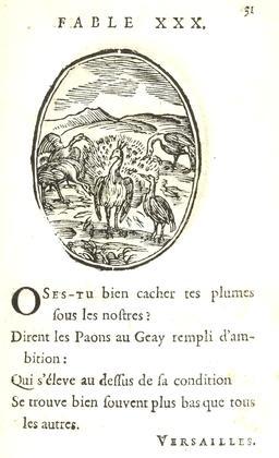 Les paons et le geai. Source : http://data.abuledu.org/URI/59163da8-les-paons-et-le-geai