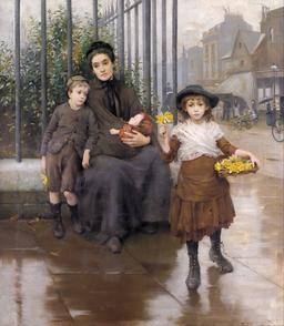 Les petits marchands de jonquilles en 1889. Source : http://data.abuledu.org/URI/58cb2d5a-les-petits-marchands-de-jonquilles-en-1889