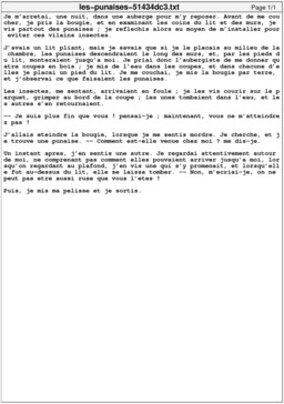 Les punaises. Source : http://data.abuledu.org/URI/51434dc3-les-punaises