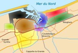 Les quartiers du Grand Dunkerque. Source : http://data.abuledu.org/URI/51dc1d12-les-quartiers-du-grand-dunkerque