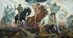Les quatre cavaliers de l'Apocalypse. Source : http://data.abuledu.org/URI/528d4b05-les-quatre-cavaliers-de-l-apocalypse