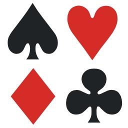 Les quatre enseignes du jeu de cartes. Source : http://data.abuledu.org/URI/50cc8ed9-les-quatre-enseignes-du-jeu-de-cartes
