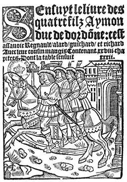 Les quatre fils Aymon au XVIème siècle. Source : http://data.abuledu.org/URI/5942ea19-les-quatre-fils-aymon-au-xvieme-siecle
