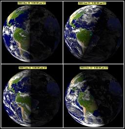 Les quatre saisons astronomiques. Source : http://data.abuledu.org/URI/52755b66-les-quatre-saisons-astronomiques
