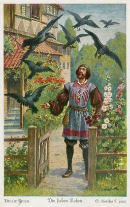 Les sept corbeaux 1. Source : http://data.abuledu.org/URI/520d5b35-les-sept-corbeaux-1