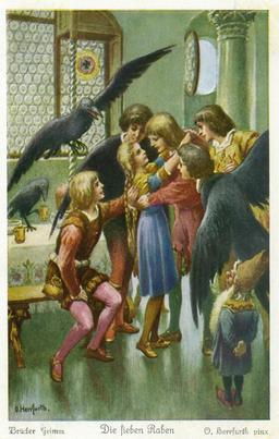 Les sept corbeaux 6. Source : http://data.abuledu.org/URI/520d5d5f-les-sept-corbeaux-6