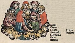 Les sept sages de Milet. Source : http://data.abuledu.org/URI/505ed152-les-sept-sages-de-milet