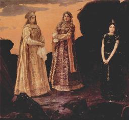 Les trois reines de l'outre-monde. Source : http://data.abuledu.org/URI/528d489f-les-trois-reines-de-l-outre-monde
