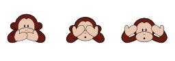 Les trois singes de la Sagesse. Source : http://data.abuledu.org/URI/548b6b27-les-trois-singes-de-la-sagesse