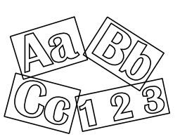 Lettres et chiffres à colorier. Source : http://data.abuledu.org/URI/5332877e-lettres-et-chiffres-a-colorier
