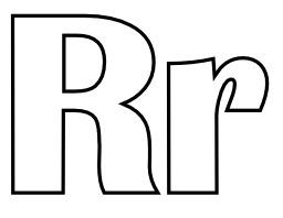 Lettres R et r à colorier. Source : http://data.abuledu.org/URI/5331f108-lettres-r-et-r-a-colorier