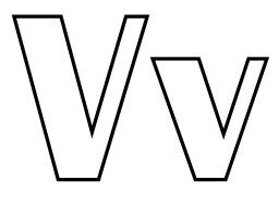 Lettres V et v à colorier. Source : http://data.abuledu.org/URI/5331f55c-lettres-v-et-v-a-colorier