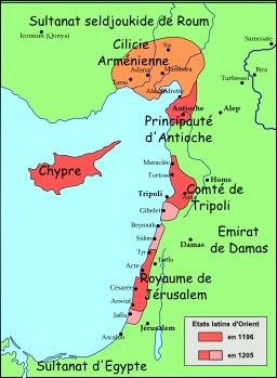 Carte du Levant en 1197. Source : http://data.abuledu.org/URI/51f305ec-levant-1197