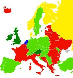 Liberté du panorama selon les pays européens. Source : http://data.abuledu.org/URI/544c2df0-liberte-du-panorama-selon-les-pays-europeens