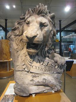 Lion britannique de l'Amiral Nelson. Source : http://data.abuledu.org/URI/5251b523-lion-britannique-de-l-amiral-nelson