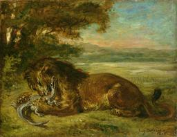 Lion et Alligator. Source : http://data.abuledu.org/URI/51a4f191-lion-et-alligator