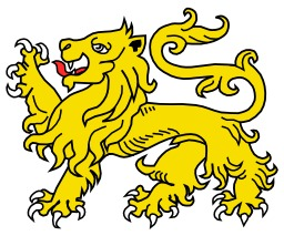 Lion Passant en héraldique. Source : http://data.abuledu.org/URI/5251815a-lion-passant-en-heraldique