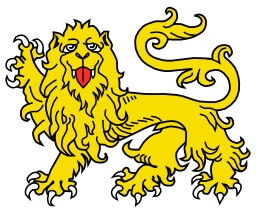 Lion Passant Guardant en héraldique. Source : http://data.abuledu.org/URI/5251a3b1-lion-passant-guardant-en-heraldique