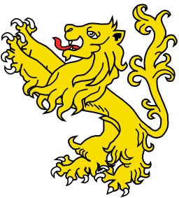 Lion Saillant en héraldique. Source : http://data.abuledu.org/URI/5251837e-lion-saillant-en-heraldique