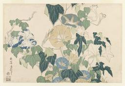 Liserons en fleur et en bouton de Katsushika Hokusai. Source : http://data.abuledu.org/URI/47f52c78-liserons-en-fleur-et-en-bouton-de-katsushika-hokusai