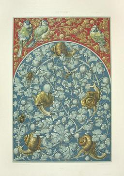 Lithographie d'escargots. Source : http://data.abuledu.org/URI/50fa814c-lithographie-d-escargots