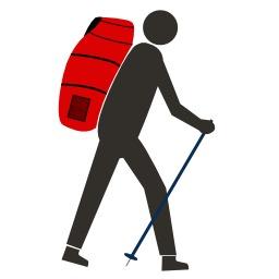 Logo de parapentiste randonneur. Source : http://data.abuledu.org/URI/50b12a36-logo-de-parapentiste-randonneur