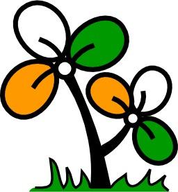 Logo de parti indien. Source : http://data.abuledu.org/URI/50e5fccd-logo-de-parti-indien-