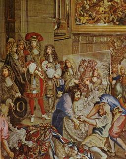 Louis XIV visitant la Manufacture des Gobelins. Source : http://data.abuledu.org/URI/548b55f4-louis-xiv-visitant-la-manufacture-des-gobelins