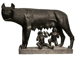 Louve capitoline allaitant Romulus et Rémus. Source : http://data.abuledu.org/URI/47f3d43e-louve-capitoline-allaitant-romulus-et-r-mus