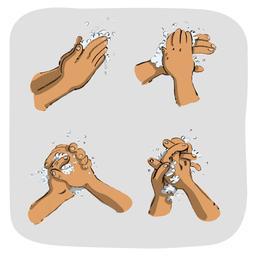 Luna savonne ses mains. Source : http://data.abuledu.org/URI/5800e561-luna-savonne-ses-mains