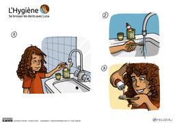 Luna se brosse les dents - BD 01. Source : http://data.abuledu.org/URI/5836ccc4-luna-se-brosse-les-dents-bd-01