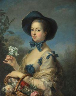 Madame de Pompadour en belle jardinière. Source : http://data.abuledu.org/URI/539572f9-madame-de-pompadour-en-belle-jardiniere