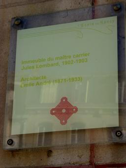 Maison art nouveau avenue Foch à Nancy. Source : http://data.abuledu.org/URI/5819098a-maison-art-nouveau-avenue-foch-a-nancy