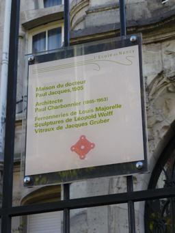 Maison art nouveau avenue Foch à Nancy. Source : http://data.abuledu.org/URI/5819107d-maison-art-nouveau-avenue-foch-a-nancy