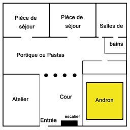 Maison d'Olynthe. Source : http://data.abuledu.org/URI/5291ae75-maison-d-olynthe