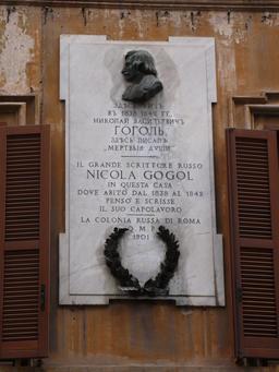 Maison de Gogol à Rome. Source : http://data.abuledu.org/URI/52c34342-maison-de-gogol-a-rome