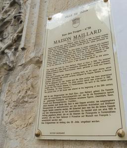 Maison Maillard 38 rue des forges à Dijon. Source : http://data.abuledu.org/URI/59d474f3-maison-maillard-38-rue-des-forges-a-dijon