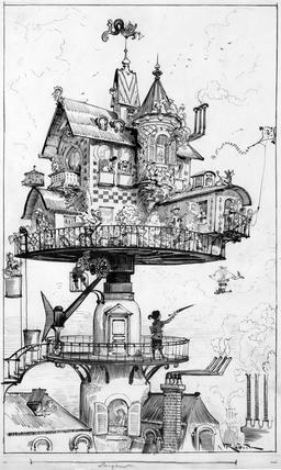 Maison tournante aérienne. Source : http://data.abuledu.org/URI/59e0ed80-maison-tournante-aerienne