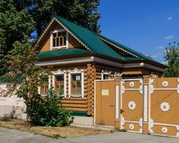 Maison traditionnelle en bois à Kazan en Russie. Source : http://data.abuledu.org/URI/58ceefc3-maison-traditionnelle-en-bois-a-kazan-en-russie