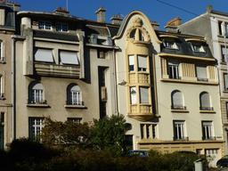 Maisons art nouveau avenue Foch à Nancy. Source : http://data.abuledu.org/URI/581906ee-maisons-art-nouveau-avenue-foch-a-nancy